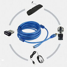 Standard USB2.0 Type A Female to Type A Male Extension Cable Connector Wire Blue