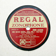 """SHEP FIELDS RIPPLING RHYTHM """"One Never Knows, Does One?"""" REGAL MR-2350 [78 RPM]"""