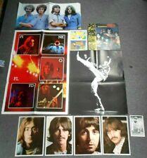 Lot Of 11 Album Inserts~Beatles~Pink Floyd~Eagles~David Bowie~Kiss~Excellent
