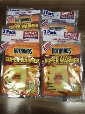 Lot of 4 3 Pack HotHands Body & Hand Super Warmers Up To 18 Hrs of Heat Exp 5/22