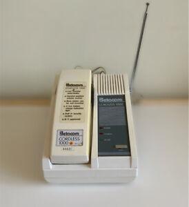 Vintage Betacom Cordless 1000 Telephone White Base And Handset