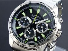 Seiko Men's Chronograph Watch SSB027P1 Warranty, Box, RRP:£220