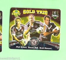 2007 GOLD SERIES  RUGBY LEAGUE TAZO - #60  GOLD TRIO, MANLY SEA EAGLES