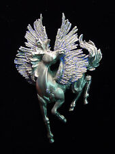 """JJ"" Jonette Jewelry Silver Pewter 'Majestic PEGASUS' Flying Horse Pin"