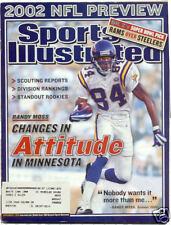 September 2 2002 Randy Moss Minnesota Vikings Football HOF Sports Illustrated