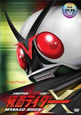 DVD Masked Kamen Rider X Chapter 1-35end [ Tokusatsu like V3, Amazon, Stronger ]
