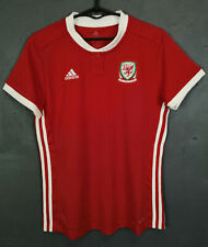 WOMEN'S FEMALE LADY WALES 2017/2018 ADIDAS SOCCER FOOTBALL SHIRT JERSEY SIZE M