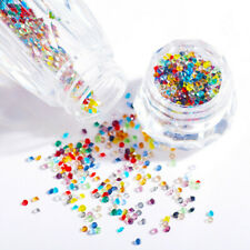 3000Pcs 3D Nail Art Gems Micro Zircon 1.1mm Crystal Pixie Mini Rhinestones DIY