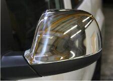 NEW GENUINE VW AMAROK TRANSPORTER T5 CHROME FINISH DOOR MIRROR CAPS SET