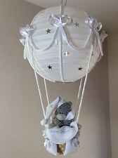 Starry night Hot Air Balloon Lamp light shade Silver grey