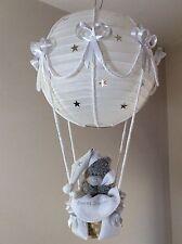 Noche estrellada Hot Air Balloon cortina de lámpara luz Gris Plata