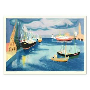 """Georges Lambert """"Le Harve"""" Signed Limited Edition Lithograph on Paper ."""