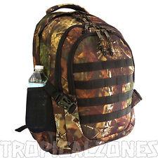"Tree Camo Backback Hunting Camping Hiking Gear 19"" Daypack Heavy Duty Padded Bag"