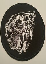 Custom Grim Reaper motorcycle vest jacket patch