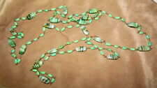 """Vintage Art Deco Venetian Glass Bead Necklace 52"""" Wired"""