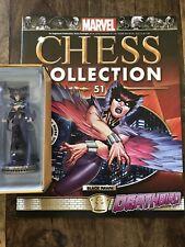 Eaglemoss Marvel Chess Collection # 51 DEATHBIRD  # Black Pawn + Magazine