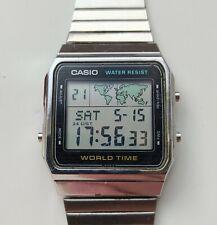 Vintage Casio A300U Module 643 World Time Alarm Digital Watch