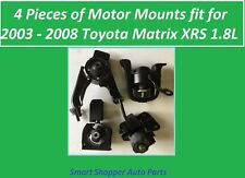 4 Pieces of Motor Mounts for 2003 - 2008 Toyota Matrix SRX 1.8L Engine and Trans