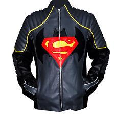 Batman vs Superman Gray & Black Real Leather Stylish Jacket