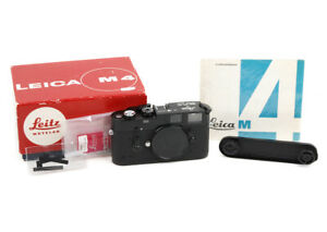 Leica M4-M (Da) Black Paint Camera Body for Zeiss Fundus w/ Box