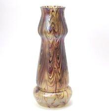 Bohemian Art Glass Vase - Kralik Peloton Glass Antique Circa 1900