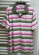 Sportliches Kurzarm-Shirt KEILBACH Gr. 46/48 Baumwolle weiss-rosa-grün gestreift