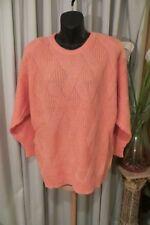 VINTAGE 80'S  ~ KATIES ~ Apricot Diamond Weave JUMPER * Size M/L *