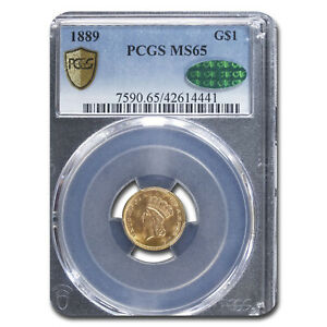 1889 $1 Indian Head Gold MS-65 PCGS CAC - SKU#132057