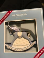 Wedgwood my first Christmas 2017 rocking horse, Blue Ornament New In The Box