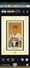 2021 TOPPS BUNT BUSTER POSEY ICONIC GOLD FRAMED RELIC 206 ICONIC DIGITAL CARD*