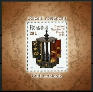 Romania Art Stamps 2020 MNH Music Boxes Romanian Collections Museums 1v M/S