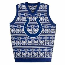 INDIANAPOLIS COLTS NFL KLEW MENS UGLY SWEATER VEST SMALL