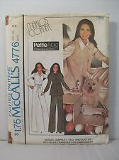 Vtg McCall's Pattern Marlo's Corner 4776 Jumpsuit Vest Booties + Transfer Sz 14