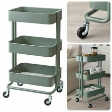 IKEA RASKOG Green 3-Tier Rolling Utility Cart Kitchen Storage Trolley Organize
