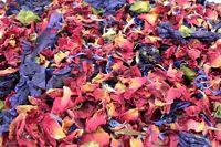 Natural Wedding Confetti, Passion, Biodegradable Natural Confetti Petals 1 Litre