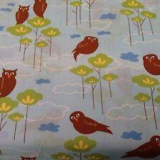 Owls Lt Blue Hot Couturier Cotton Quilt Sewing Craft Fabric Robert Kaufman