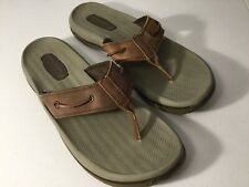 SPERRY Top-Sider Brown Leather Flip Flop Sandals. Size 13. Excellent Condition.