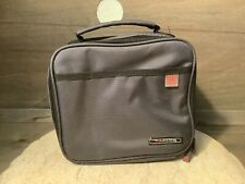 """IRIS MY LUNCHBAG ZIP UP GRAY 9 X 7.5"""" INSULATED PREOWNED"""