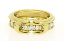 diseñador Jose Hess 18ct Oro Macizo doble hebilla Pavé 0.75ctw Diamante