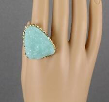 faux druzy ring Big Huge cocktail ring drusy gem stone funky fun statement piece