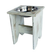 """Elevated Dog Bowl Stand - Wooden - 1 Bowl - 400 mm / 16"""" Tall - Raised Dog Bowl"""