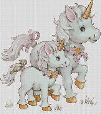 Nuevo Bebé Unicornios Punto de Cruz Kit Completo #5-430