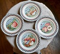 Set 4 CERTIFIED INTERNATIONAL Susan Winget HARVEST FAIR Dinner Plates 9.5""