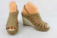 High heel sandals Plateau GEOX Beige Leather T 39 VERY GOOD CONDITION