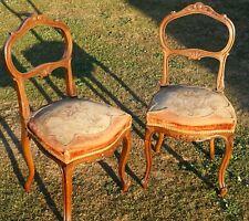 Paire de Chaises Ancienne Style Louis XV - 19eme Siècle