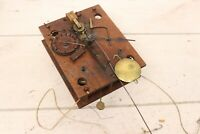 Antique 1800s Wooden Clock Works Movement Atkins Downs George Mitchell For Parts