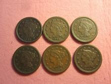 Lot of 6 Braided Hair Large Cent