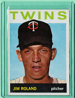 1964 TOPPS #341 JIM ROLAND TWINS NM