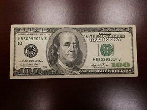 Series 2006 ~ US One Hundred Dollar Bill $100 ~ New York ~ HB 60292014 B