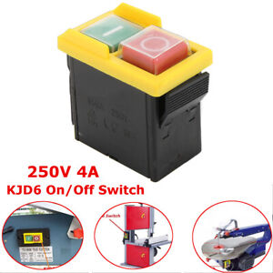 AC 250V 4A IP54 On/Off Water Proof Push Button Switch for Drill Motor Machine